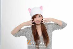 InuYasha Hat  Cat Hat  Cat Ears  Cat Fleece Hat  Kitty by qwear01