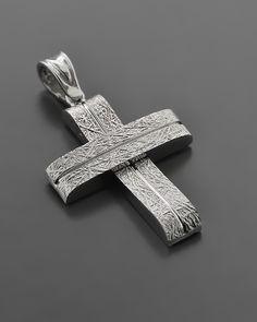 Βαπτιστικός Σταυρός Λευκόχρυσος Κ14 Wire Jewelry, Jewelery, Jewelry Ideas, Jewelry Design, Gold Cross, Crosses, Medieval, Pendants, Christian