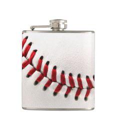 Original baseball ball hip flasks