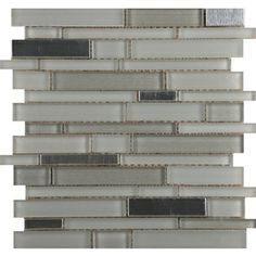 Emser 10-Pack 12-in  x 13-in Flash Bright Mixed Material (Glass and Metal) Wall Tile $16.67 per square foot