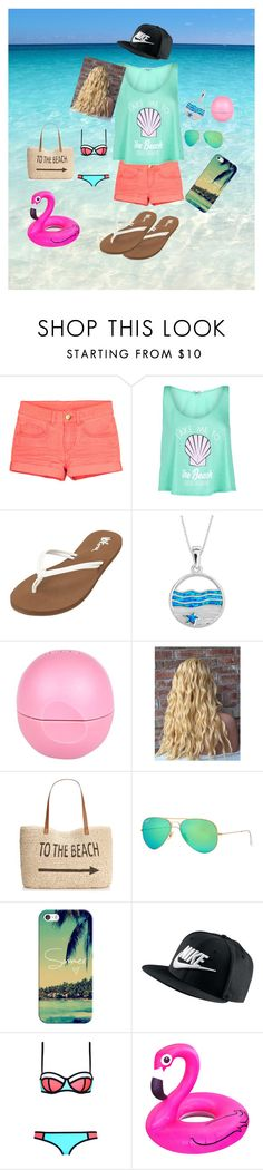 """""""coral"""" by jazzypacman ❤ liked on Polyvore featuring moda, Wildfox, Volcom, La Preciosa, River Island, Style & Co., Ray-Ban, Casetify, NIKE y Summer"""