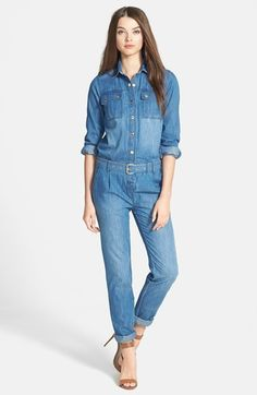 d63d270bc8ec Free shipping and returns on MICHAEL Michael Kors Denim Chambray Jumpsuit  at Nordstrom.com.