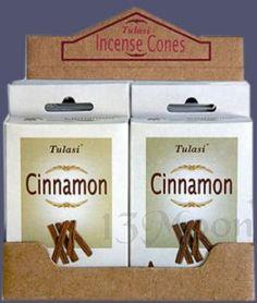 Cinnamon Cone Incense Made In India. 15 Cones of Quality Tulasi Incense.