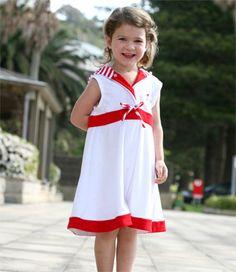 459bd2fdce0 Sail away beach dress by Terry Rich Australia. Super soft terry for  precious kids skin.