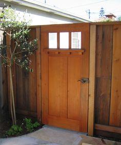 So pretty for a side yard gate.