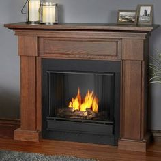 Gas Fireplace No Chimney Electric Fireplaces Portable With Mantel