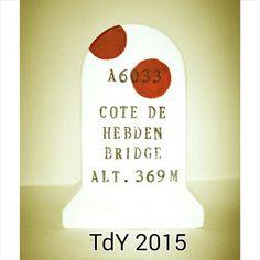 Cote de Hebden Bridge marker from Summit Finish  tourdeyorkshire  cycling   yorkshire  hebdenbridge ea23cfa54
