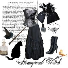 """Steampunk Witch"" by redheaded-diva on Polyvore"