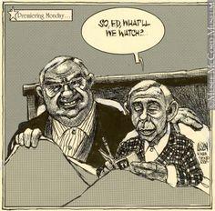 johnny carson caricatures | M999.65.28 | Johnny Carson tire sa révérence…