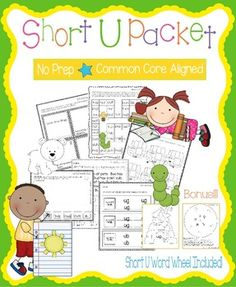 Short U PacketThese worksheets, games, books, and activities will teach the short u sound.  All pages (except for the Go Fish Game) require no prep.  All are engaging for students and make learning to read and spell short u words fun.  Pages Included:*Short U Word Families (practice writing and reading words in the -un, -ug, and -ub word families)*Gus the Bug - A short u story to illustrate, cut, and staple*Short U Game - Players move their pieces through u game board with short u…