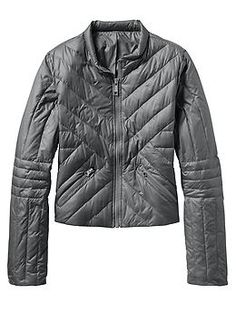 Geneva Down Jacket - Your urban lifestyle can go ahead and get down with this chic, cropped down jacket that features FeatherDry technology and cool quilting.