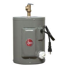 Calentador de agua Eléctrico de 2.5 galones de 127 V/1 fase/60 Hz. Con protección catódica. Tanque grueso calibre con porcelanizado Rheemglas. Aislamiento de 1.5