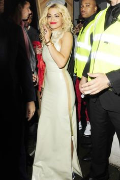 Rita Ora was spotted in London, leaving DSTRKT night club for the Roc Nation label's Wireless Festival after-party.