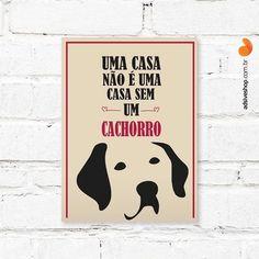 """Placa Decorativa """"Casa sem Cachorro"""" - Papel de Parede e Adesivos Decorativos - AdsiveShop"""