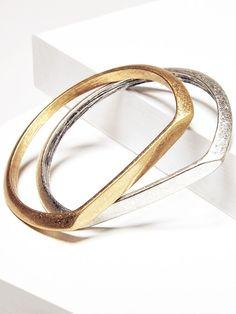 Minimalist chic metal bangles