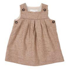 Mini Wool-Cashmere Pinafore - Chocolate