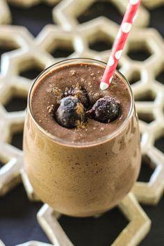 #paleo #paleomg Chocolate Cherry Chia Protein Shake