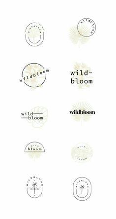 Current project Wildbloom - The binding graphic design & branding studio, . Minimal Logo Design, Graphic Design Branding, Logo Branding, 3d Logo, Corporate Branding, Identity Design, Logo Design Studio, Brand Identity, Studio Logo
