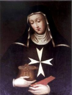 St. Ubaldesca Taccini--she protested to an angel that she didn't have the dowry needed to join a congregation... and eventually begged on Pisa streets to keep the order and its ministries afloat.