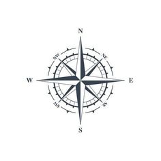 Vector illustration isolated on white background - Compass sign, wind rose icon. Vector illustration isolated on white background Stock Photo – 6762 - Tatoo Compass, Simple Compass Tattoo, Nautical Compass Tattoo, Compass Drawing, Compass Tattoo Design, Compass Icon, Dia Do Designer, Small Tattoos, Tattoos For Guys