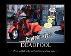 "Not manly, Deadpool. Deadpool- ""Its manly! U just saw that i told that guy in the red car that! didnt ur mommy teach ya how to read? Oooohhhhhhh, u just got told! Deadpool Quotes, Deadpool Funny, Deadpool Stuff, Marvel Funny, Marvel Heroes, Marvel Dc, Jae Lee, Wade Wilson, Spideypool"