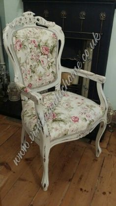 Shabby Chic Faded Rose Armed Occasional Chair On Commission  Www.facebook.com/ VintageChicHomeShabbyChicFurniture