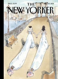"""The New Yorker - Monday, July 25, 2011 - Issue # 4412 - Vol. 87 - N° 21 - Cover """"Wedding Season"""" by Barry Blitt"""