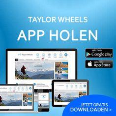 Taylor Wheels - ShoppingApp downloaden und noch einmal sparen Wheels, Bicycle Parts, Hamster Wheel