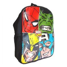 Marvel Comics Multi Character Face Off Collection Backpack School Bag