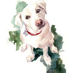 December 2013 - Puppy love by Inslee Haynes Love Illustration, Watercolor Illustration, Watercolor Art, Watercolor Paintings Of Animals, Dog Paintings, Dog Art, Pet Portraits, Puppy Love, Sketches