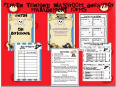 pirate themed classroom management/behavior forms -- free from TpT store Classroom Discipline, Classroom Behavior Management, Art Classroom, Classroom Themes, Classroom Organization, Class Management, First Year Teaching, Teaching Schools, Teaching Resources