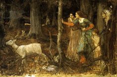 The Mystic Wood by John William Waterhouse (1849-1917)