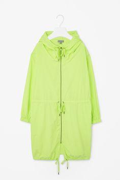 Oversized hooded parka