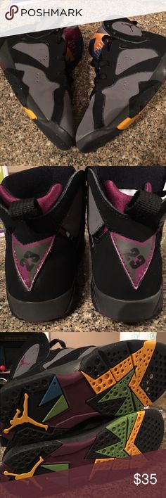 Jordan 7 Bordeaux Youth size, front toe scuffs otherwise still great overall Jordan Shoes Sneakers