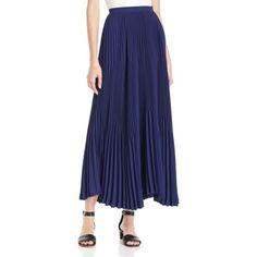maxi skirt, long skirt, Navy skirt, Blue skirt, Pleated Skirt ...
