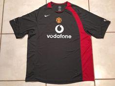Rare Vintage NIKE Manchester United GRAY Jersey Men's 2XL  | eBay