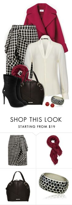 """""""Greylin - Patterson plaid skirt"""" by kiki-bi ❤ liked on Polyvore featuring Greylin, Burberry, Riccova, blackbooties, redcoat, plaidskirt and ifchic"""