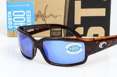 1952d600d01 NEW COSTA DEL MAR CABALLITO SUNGLASSES Tortoise Blue Mirror 400G Polarized  lens