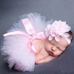 Newborn Baby Tutu Skirt Flower Headband Photo Props http://newborn-baby-care.us