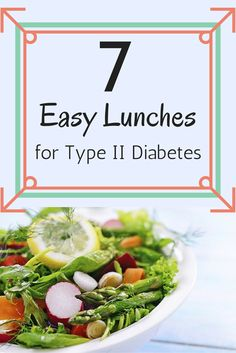 Sticking to your diabetes diet at lunchtime is easier than you think. Here's a week's worth of ideas to keep your midday meal interesting and healthy. #diabetesdiet #type2diabetes #easylunchrecipes #everydayhealth | everydayhealth.com