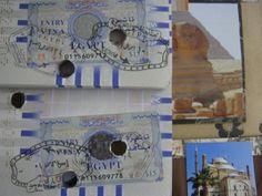 Scrapmap gemaakt in Fijnaart Visum Egypte
