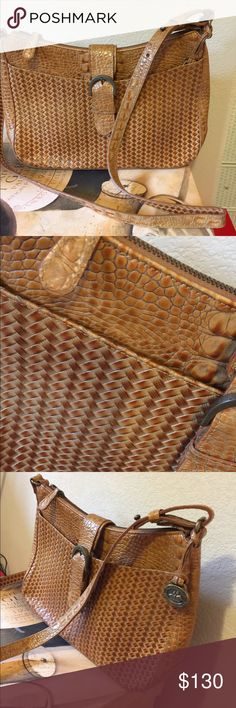 Rare Vintage Brahmin Weave Bag Gorgeous leather authentic Brahmin  Excellent clean condition no defects  11.5 x 8.5 x 3.25 Brahmin Bags Shoulder Bags