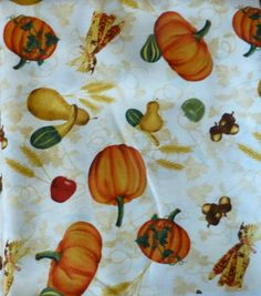 Beauty of Autumn  One Yard Cuts by South Seas Imports Thanksgiving Fabric https://www.etsy.com/shop/suesfabricnsupplies