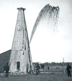 Oil Springs, Ontario.  North America's first commercial oil well 1858