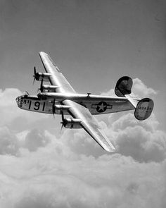 The Consolidated B-24 Liberator was an American heavy bomber, used in World War II by several Allied air forces and navies, and by every branch of the American armed forces during the war, attaining a distinguished war record with its operations in the Western European, Pacific, Mediterranean, and China-Burma-India Theaters.