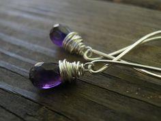 Amethyst+Jewelry+February+Birthstone+Silver+by+AnnalisJewelry,+$42.00