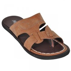 Ajanta Brown::Beige Men Sandals