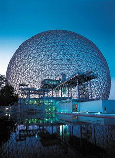 Montreal Biosphere - Quebec, Canada Buckminster Fuller geodesic technology