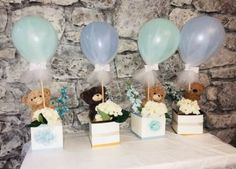 Baby shower ides for girls centros de mesa elephant theme 34 ideas – Creative Idee Baby Shower, Mesas Para Baby Shower, Shower Bebe, Unique Baby Shower, Baby Boy Shower, Baby Shower Gifts, Baby Shower Decorations For Boys, Boy Baby Shower Themes, Baby Shower Balloons