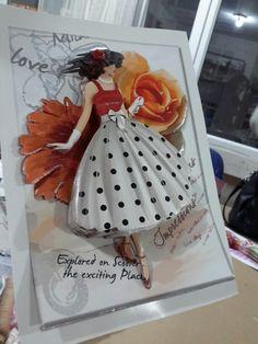 Woman and papertole-Sümbül Eldek 3d Paper, Paper Crafts, Decoupage, Illustration Art, Art Illustrations, Paper Piecing, Paper Cutting, 3 D, Card Making